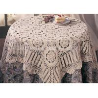 Wholesale 100% Cotton Soft Knitted Table Mats Lightweight Hollow Out 100cm x 100cm from china suppliers