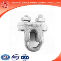 Hot-dip galvanized wire rope clips/ guy clips electric cable clamps
