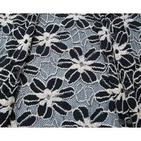 Wholesale Black / White Knitted Elastic Lace Fabric For Lady Garment Sunflower Pattern CY-DK0008 from china suppliers