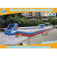 Buy cheap 22*11m Inflatable Football Pitch Giant Inflatable Soccer Field from wholesalers