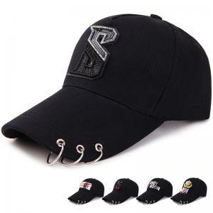 High Quality New Fashion Casual Hip-hop rivets Sport Cap Custom Unisex Ponytail trucker hat color:dark blue  size:adult