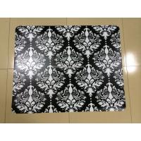 Wholesale Non Toxic Antistatic Black Chair Floor Mats , Durable Folding Carpeted Chair Mat from china suppliers