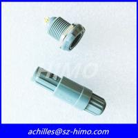 Buy cheap two key 7 pin Lemo plastic push pull connector with grey color from wholesalers