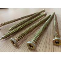 China 3 Inch 6 Inch Self Tapping Concrete Fixing Screws Cr6 Yellow Zinc Plated on sale