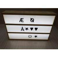 Wholesale Vintage Style A4 Size Wooden Frame Cinema Lightbox For Display High Brtightness from china suppliers