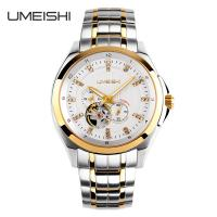 Wholesale Men 100M Water Resistant Stainless Steel Mechanical Watch Branded Sapphire Glass from china suppliers