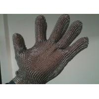 Wholesale Stainless Steel Cut Resistant Gloves , Oil Resistance Steel Mesh Cutting Gloves from china suppliers