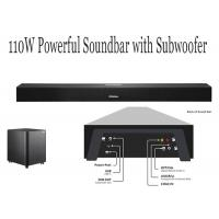 Buy cheap Black Bluetooth TV Soundbar With Built In Subwoofer , Soundbar Speakers For TV from wholesalers