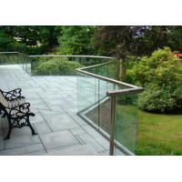 Wholesale 8mm Clear Balustrade Glass Staircase Railing , Sound Insulation from china suppliers