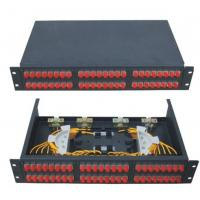 Wholesale 480 * 250 * 1U GPZ / RM - SC12 Rack-Mounted Fiber Optic Patch Panel from china suppliers