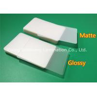 Quality Jumbo Card Matte Lamination Film Sheets , Thermal Laminating Pouches Film for sale