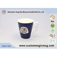 Wholesale Large Colour Changing Mug , V Shaped Porcelain Travel Coffee Mugs from china suppliers