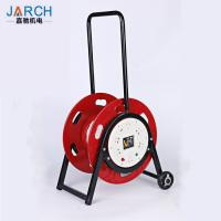 Buy cheap 2 Wheel Car Type Retractable Hose Reel , 5 Cores Retractable Cord Reel from wholesalers