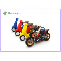 Quality Small Size Promotion Motorcycle Usb Flash Drive , Moto Car Soft Plastic Usb Drives / U Disk for sale
