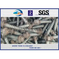 Wholesale Oxide Black 4.6 Grade Railway Ss Series Sleeper Screw Spike With 35# Steel Material from china suppliers