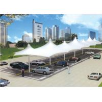 Wholesale Custom Double Car Canopy Double Side , Steel Shade Structures For Garage from china suppliers