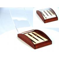 Wholesale B1401 Rosewood bottom Acrylic top lid single wood pen box with EVA,Curve Box for 3 pens from china suppliers
