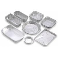 Wholesale Custom Food Packaging Aluminium Foil Baking Trays , Disposable Aluminum Pans from china suppliers