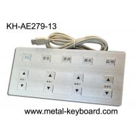 Wholesale Long Life 13 Keys Metal Medical keyboards , vandal proof keyboard from china suppliers