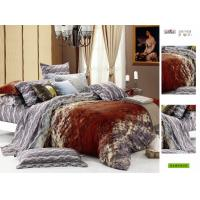 Wholesale Brown Queen Size Patterned Decorative Cotton Custom Bedding Sheet Set from china suppliers