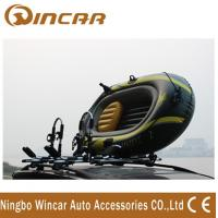 Wholesale Foldable Roof-mount Metallic-white T style Kayak Roof Carrier rack carring 2 canoe from china suppliers