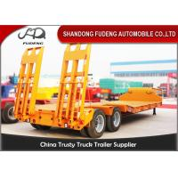 Wholesale Double Axles Low Loader Trailer For Bulk Cargo Transportation High Strength Steel from china suppliers