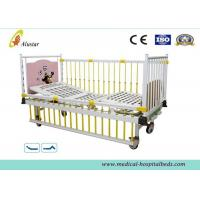 Wholesale Linak Stainless Steel Hospital Baby Beds , Baby Nursing Bed With Bumper Dinning-table (ALS-BB008) from china suppliers
