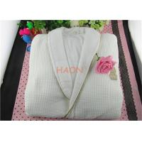 Wholesale Pure Cotton White Hospitality Bathrobes Velvet & Wffle Double Layer Hotel Spa Robes from china suppliers