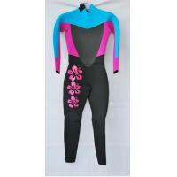 Quality Pink  Women Neoprene Diving Suit with Mesh on Chest and back for sale