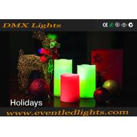 Wholesale Party Warm White Decorative Led Flameless Candles Red / Green CE ROHS UL from china suppliers