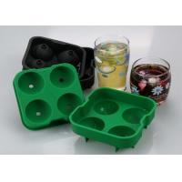 "Wholesale Food Grade Material Ice Tray Silicone With 4x1.8"" Ball Capacity from china suppliers"