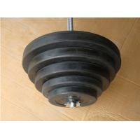Wholesale 2.5kg 5kg 7.5kg 10kg 15kg weight plate dia28mm  black Rubber barbell plate from china suppliers