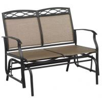 Wholesale Outdoor Leisure Steel Patio Furniture Steel Sling 2 Person Glider Chair from china suppliers