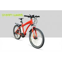 Quality Red Pedal Assist  high end Electric Mountain Bikes 48V 500W Gear Motor Cruiser Bicycle for sale