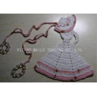 Wholesale Crochet Christmas Tree Skirt  White Dress Cloche Hat With Pink Trimming And Beads from china suppliers