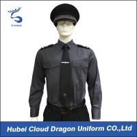 Wholesale Long Sleeve Security Uniform Shirts / Zip Front Military Style Shirt Size Custom from china suppliers