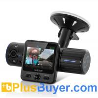 Wholesale Dual-Camera Car DVR with 270 Degree HD Rotatable Lens (1080P, GPS Logger, G-sensor, Nightvision) from china suppliers