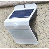 Wholesale NEW 24LED Triangle PIR Solar Sensor Motion Wall Light Fixture White Lampshade Warm White Back LED Outdoor Wall Mounted from china suppliers