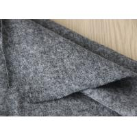 Quality 50% Woollen 50% Viscose Dress Fabric , Grey Micro Merino Wool Fleece Fabric for sale