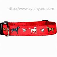Wholesale Jacquard ribbon polyester dog collars with ABS side release buckle, premium quality, from china suppliers