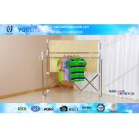Wholesale Multi-Bar Telescopic Portable Clothes Hanger Rack / Stainless Steel Cloth Drying Rack from china suppliers