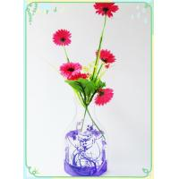 Wholesale pvc vase,  pvc flower vase,  foldable flower vases, measure H29.5*17*11cm from china suppliers