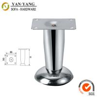Buy cheap 60mm high durable furniture hardware iron chrome metal sofa feet SL-052 from wholesalers