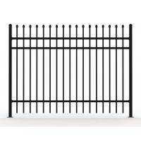 Wholesale Tubular Steel Fencing panels @Black Powder Coated Tubular Fence / Steel Fence / Wrought Iron Fence from china suppliers