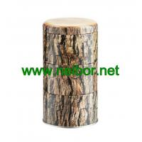 Wholesale 3-Section Woodgrain Gift Tin Storage Box Tea Canister from china suppliers