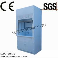 Quality Polypropylene Ducted Laboratory Chemical Fume Hood / Cupboard with PP Cup Sink for testing, lab use for sale