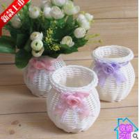 Wholesale High Quality Cheap PP Rattan Woven Flower Holder from china suppliers