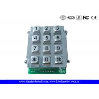 Wholesale 12 Keys Zinc Alloy Metal Keypad With Blue Backlight , vandal proof keypad 9 PIN connector from china suppliers