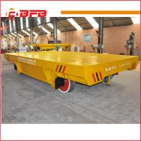 Buy cheap Metallurgy industry apply steel sheet handling low voltage rail electric flat car from wholesalers