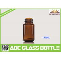 Wholesale Free Sample 120ML Custom Small Tablet Amber Glass  Bottle from china suppliers